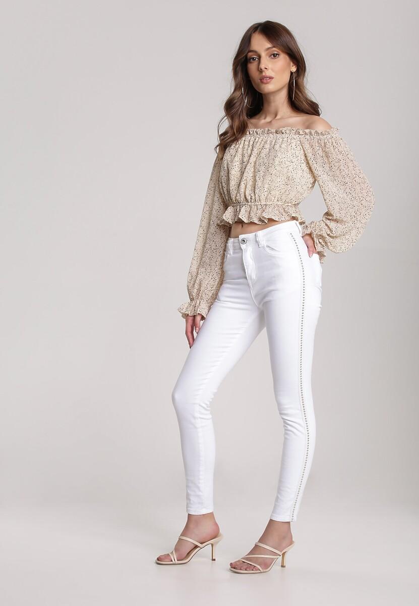 Białe Spodnie Skinny Ilerise