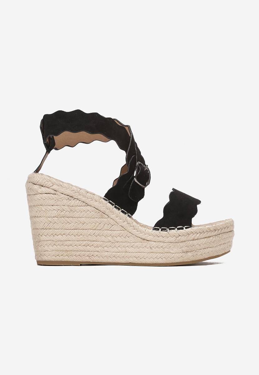 Czarne Sandały Dioreida