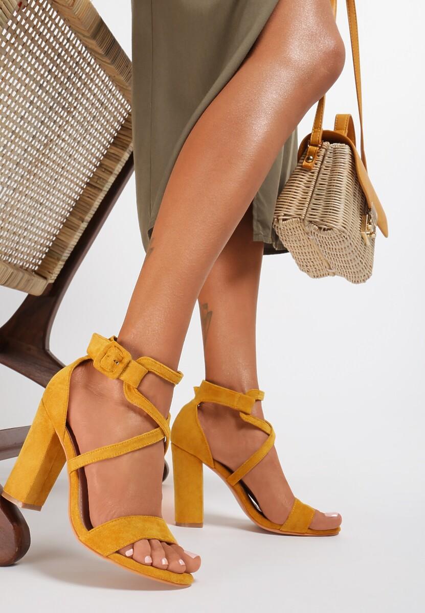 Żółte Sandały Kalimei
