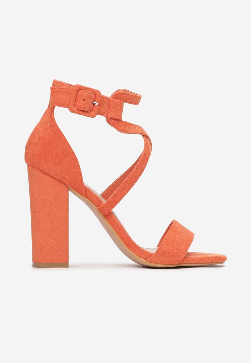 Pomarańczowe Sandały Kalimei