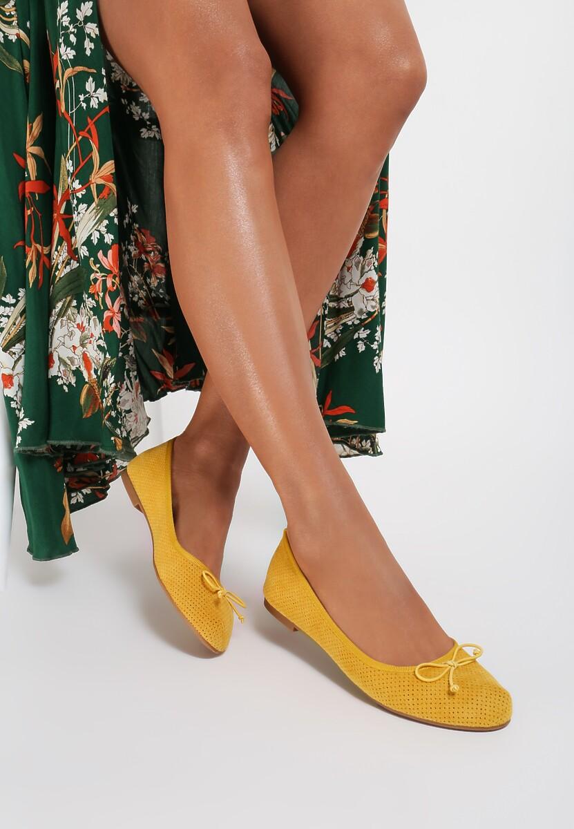 Żółte Balerinki Elera Kod produktu: 122992