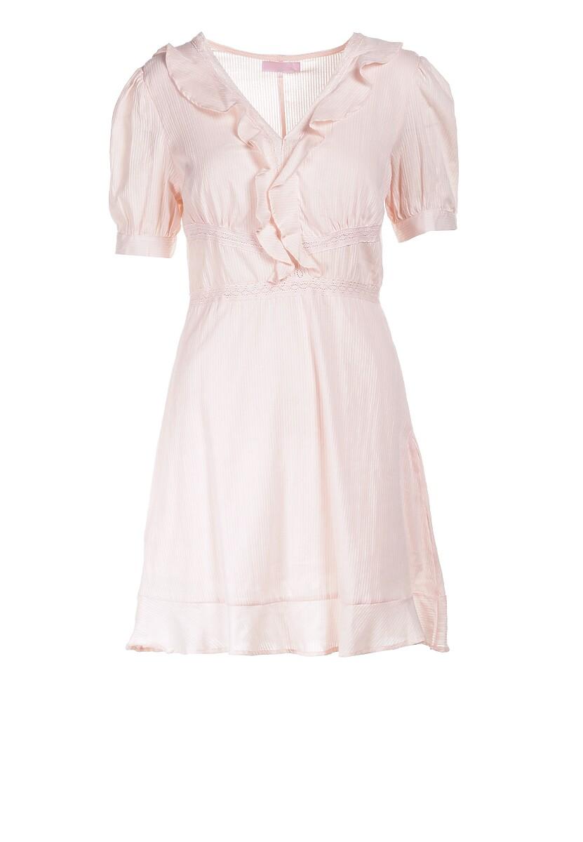 Jasnoróżowa Sukienka Eluthelia