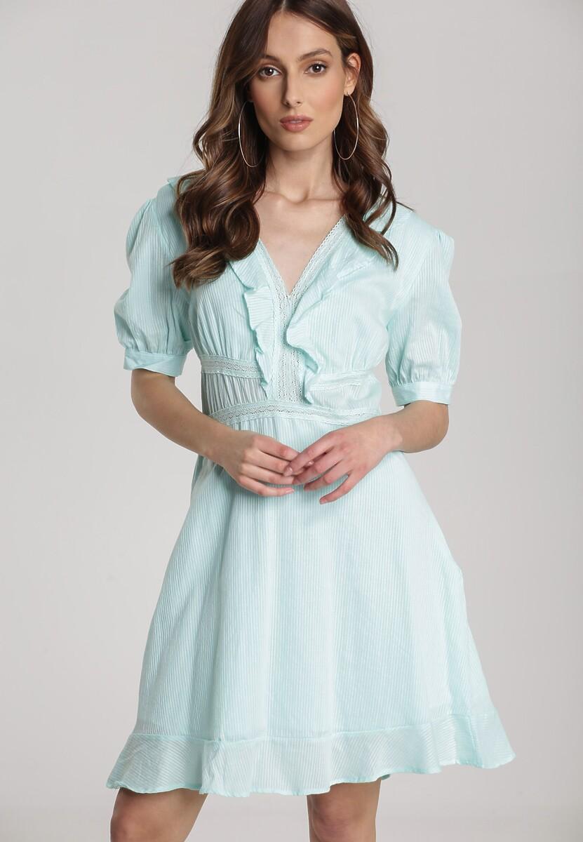 Miętowa Sukienka Eluthelia