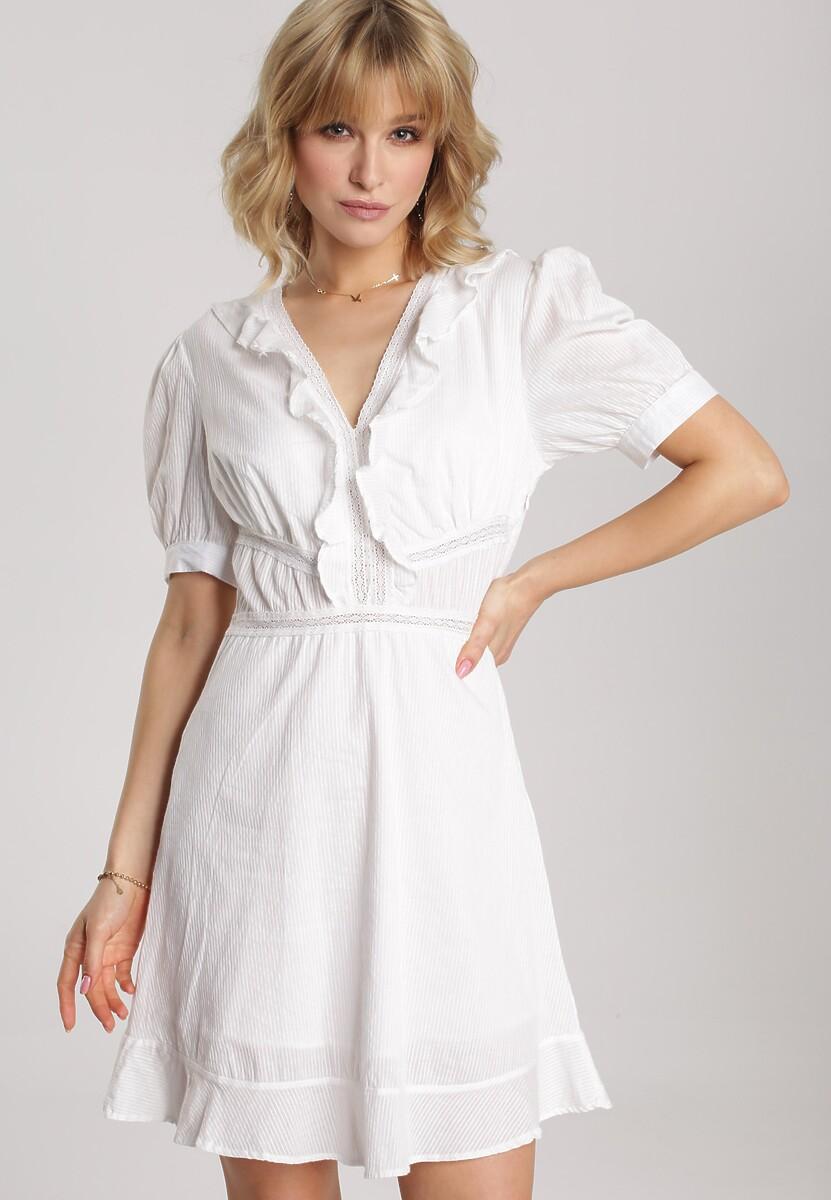 Biała Sukienka Eluthelia