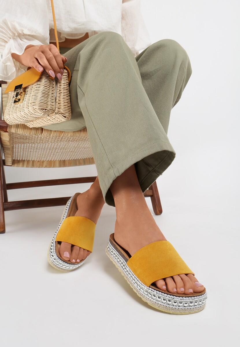 Żółte Klapki Parnoire