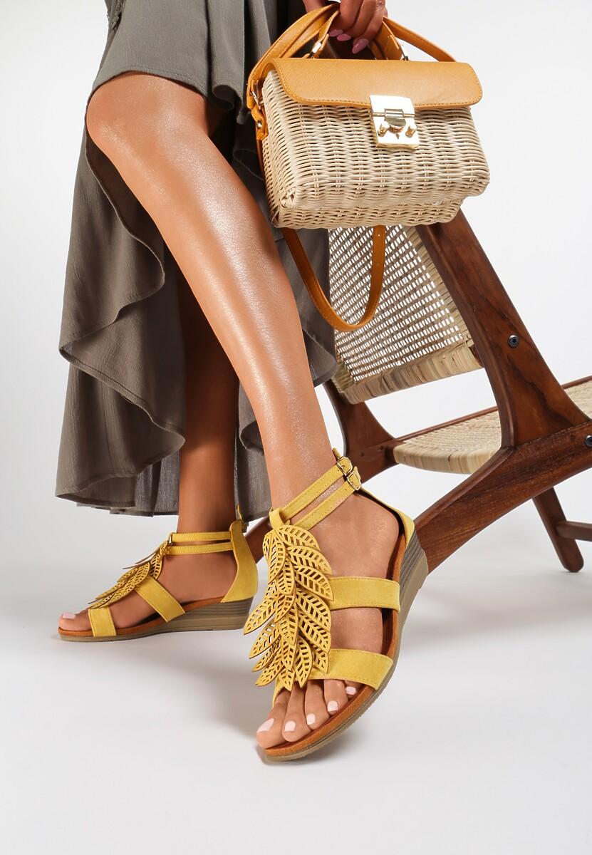 Żółte Sandały Indi Kod produktu: 123283