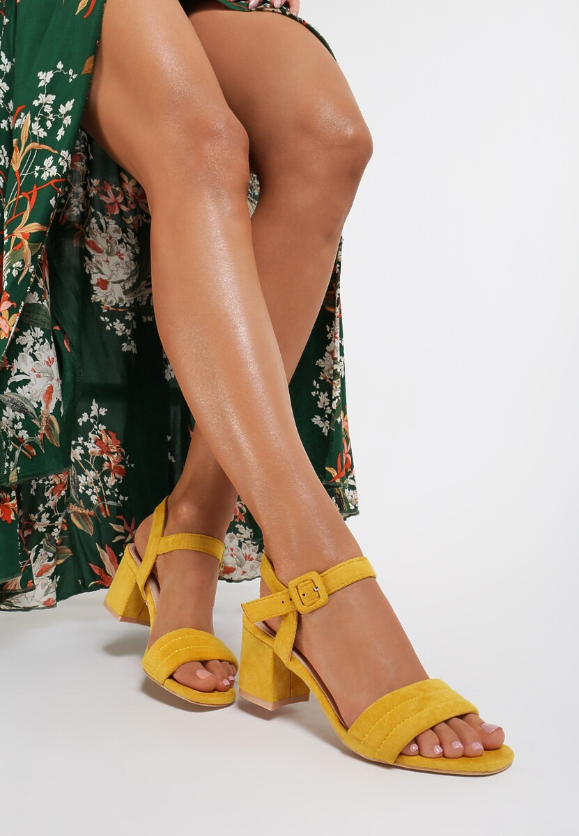 Żółte Sandały Aqiatina Kod produktu: 123291