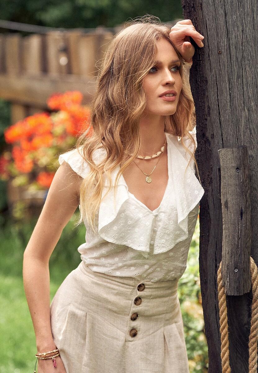 Biała Bluzka Deloneva