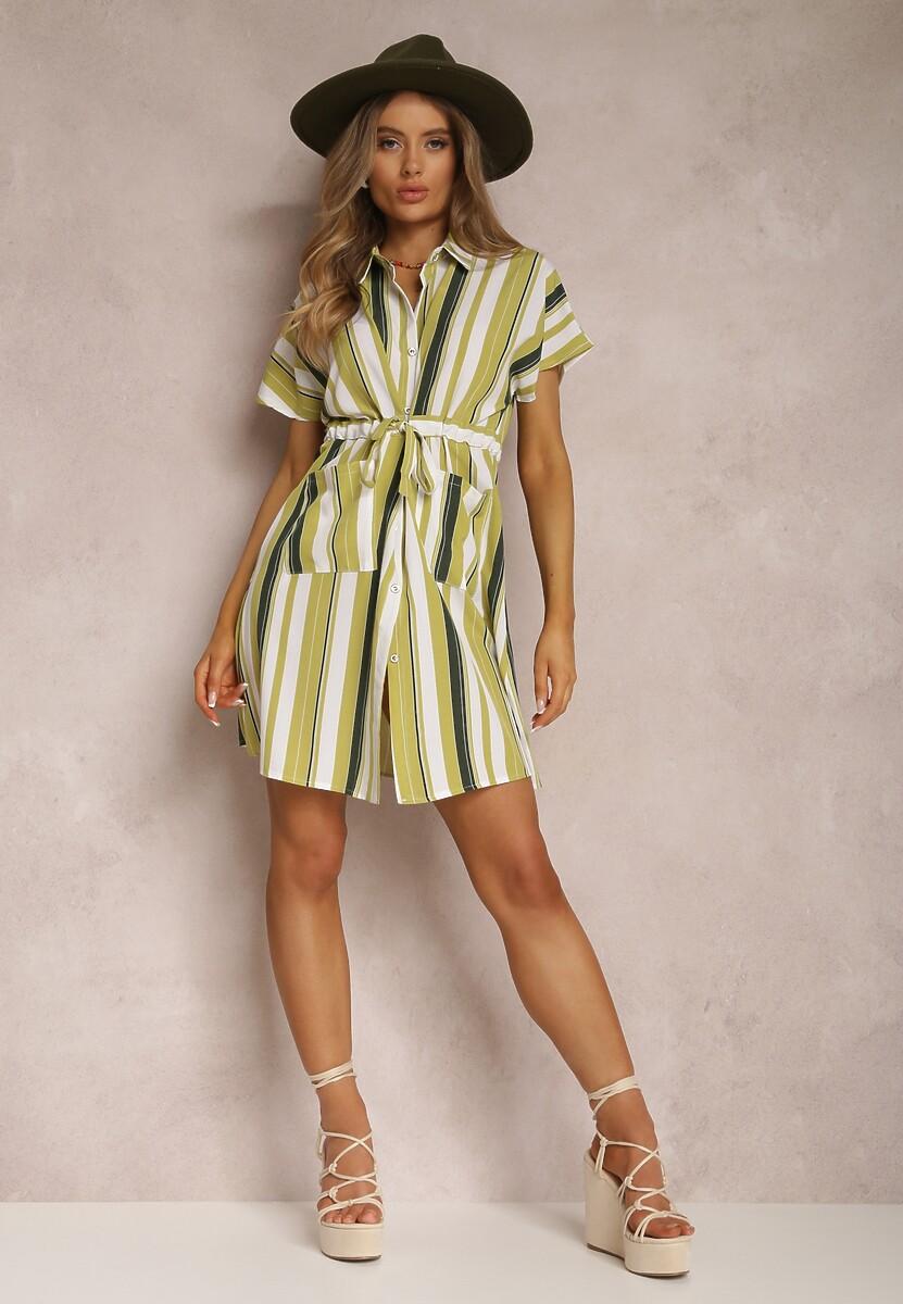 Jasnozielona Sukienka Amaliria