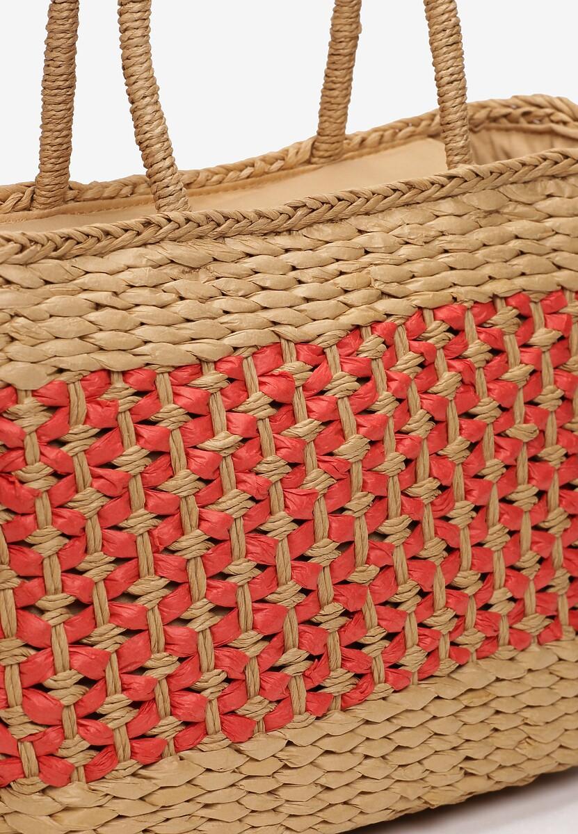 Beżowo-Czerwona Torebka Zulema