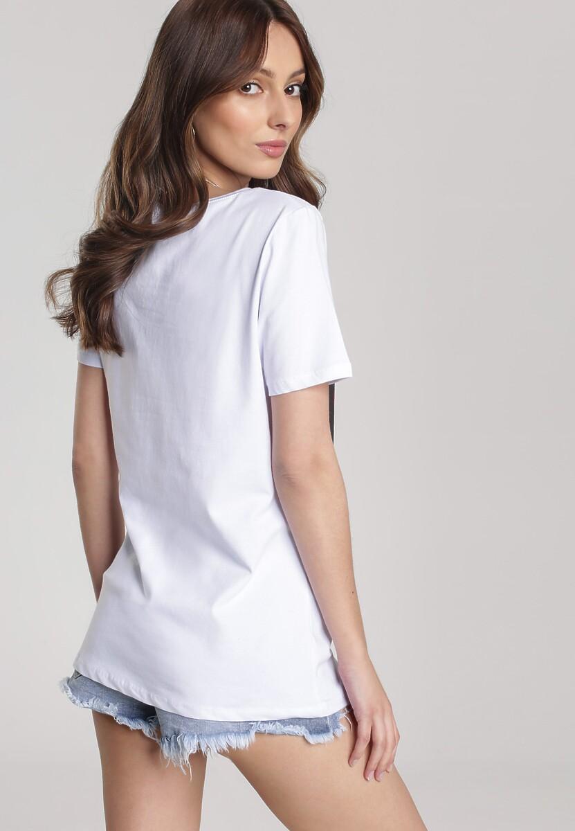Biały T-shirt Pherosea