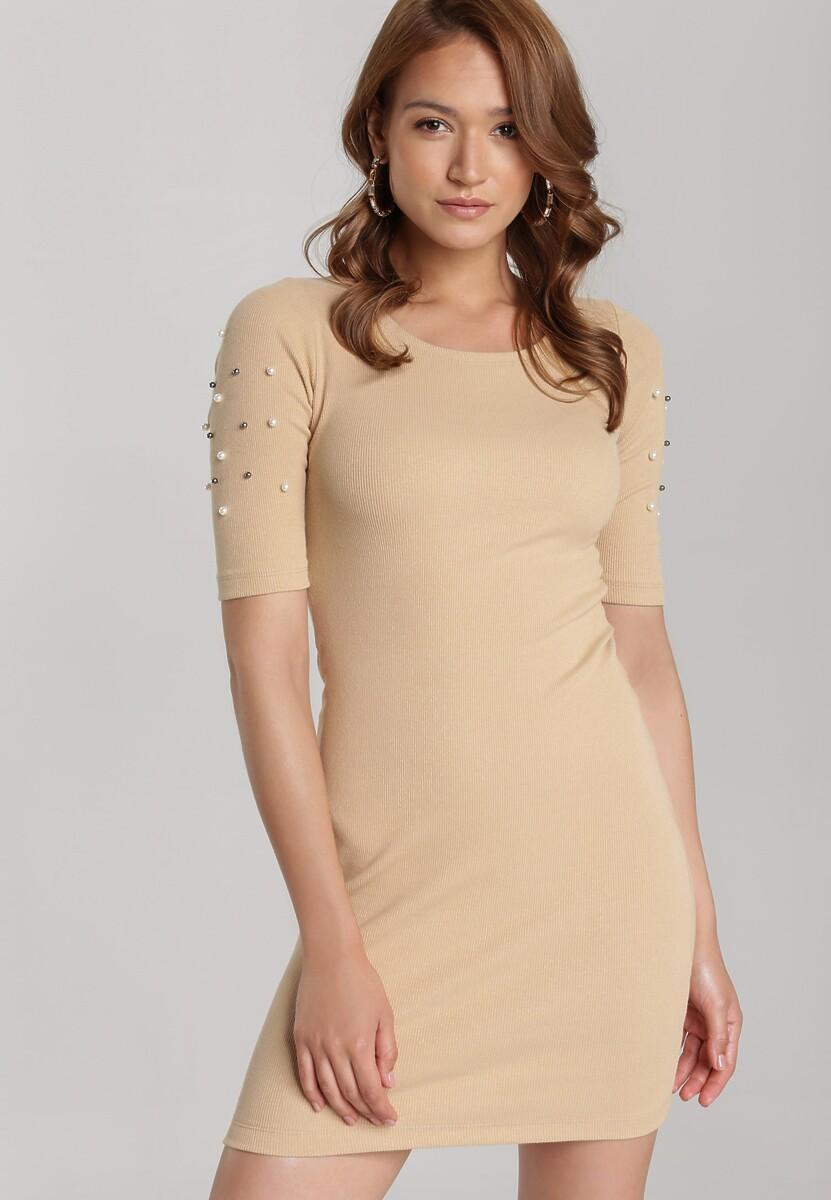 Beżowa Sukienka Maryleia