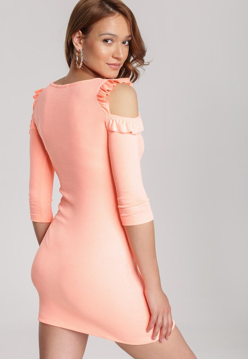 Pomarańczowa Sukienka Zharien