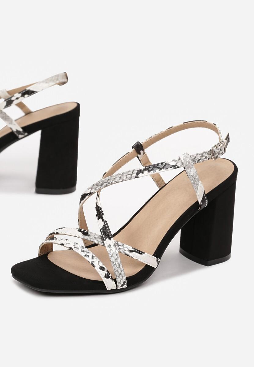 Czarno-Białe Sandały Miralina