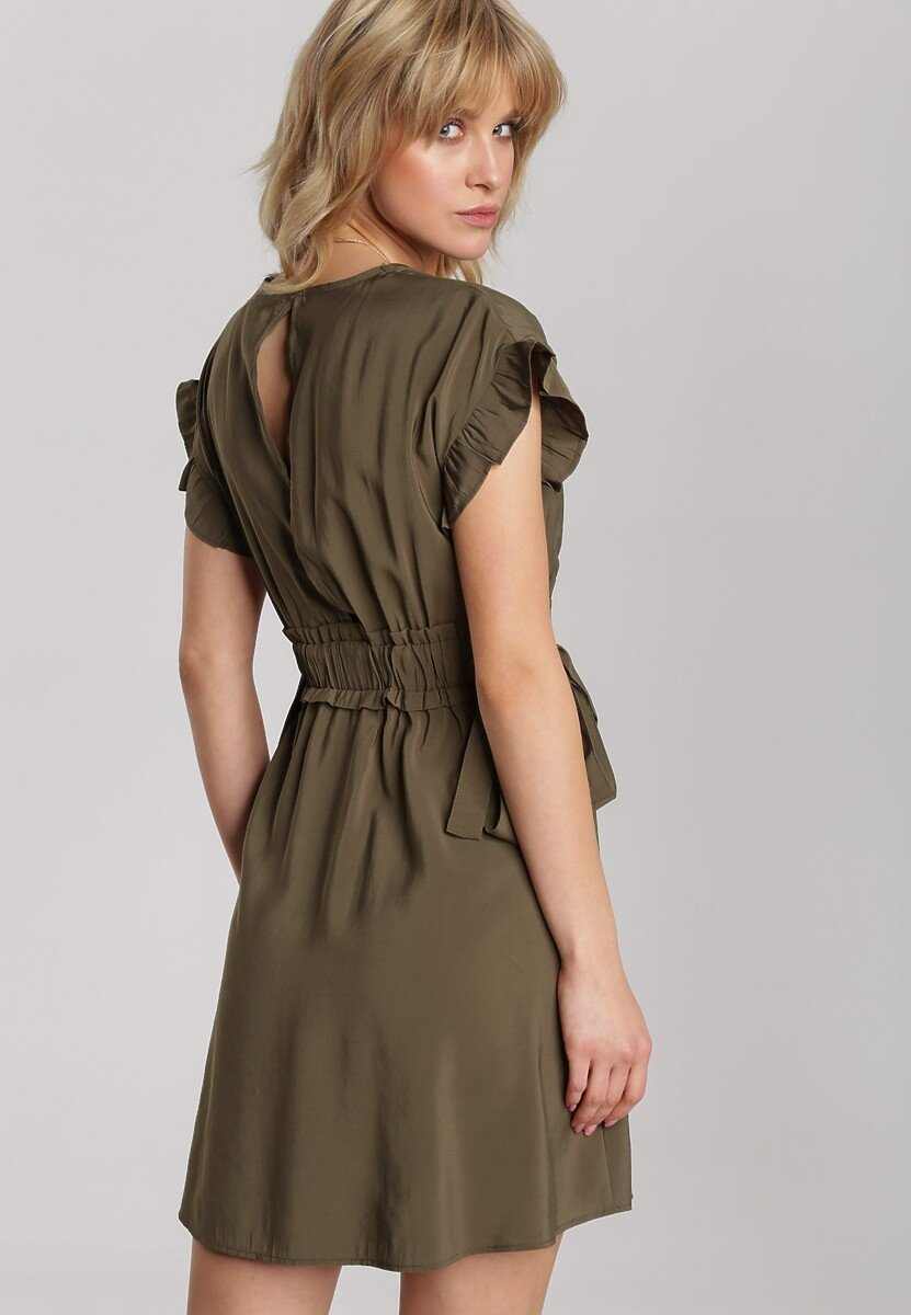 Ciemnozielona Sukienka Jennidine