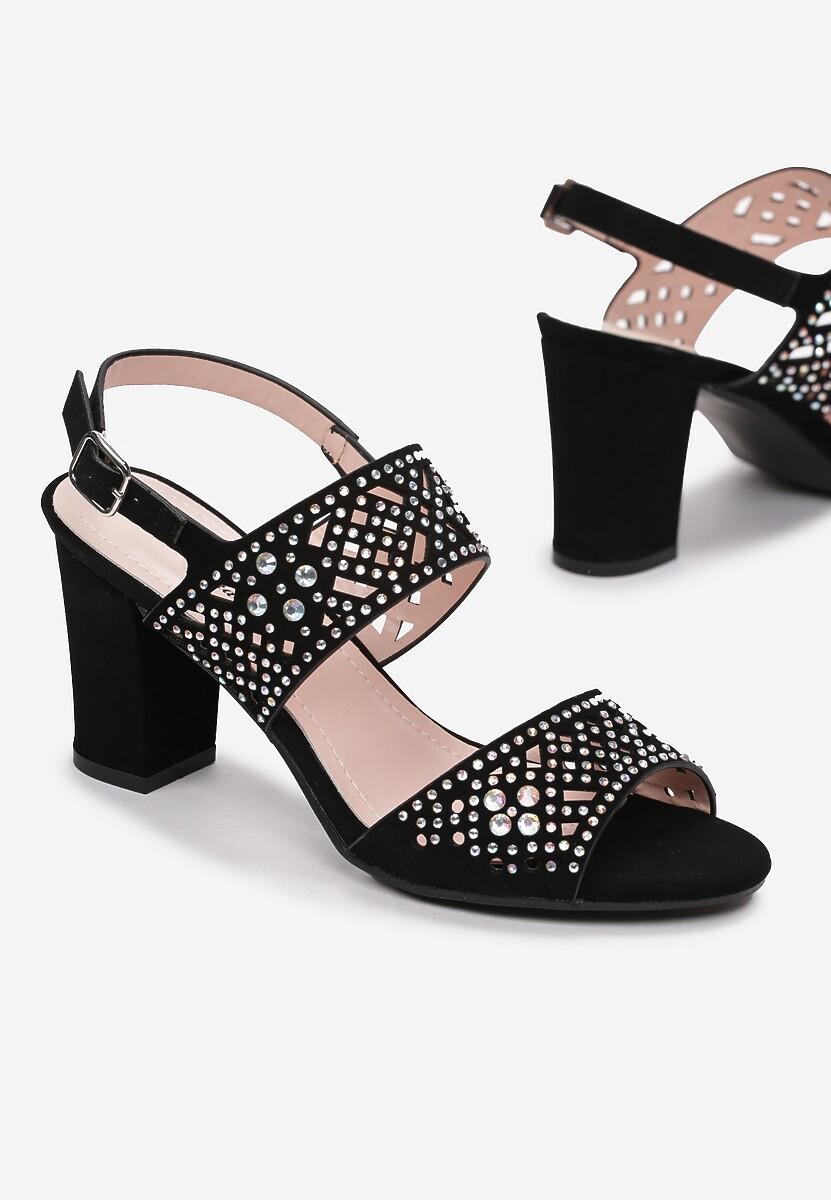 Czarne Sandały Adrielin