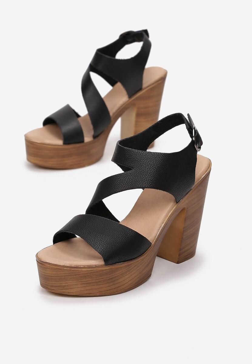Czarne Sandały Marimara