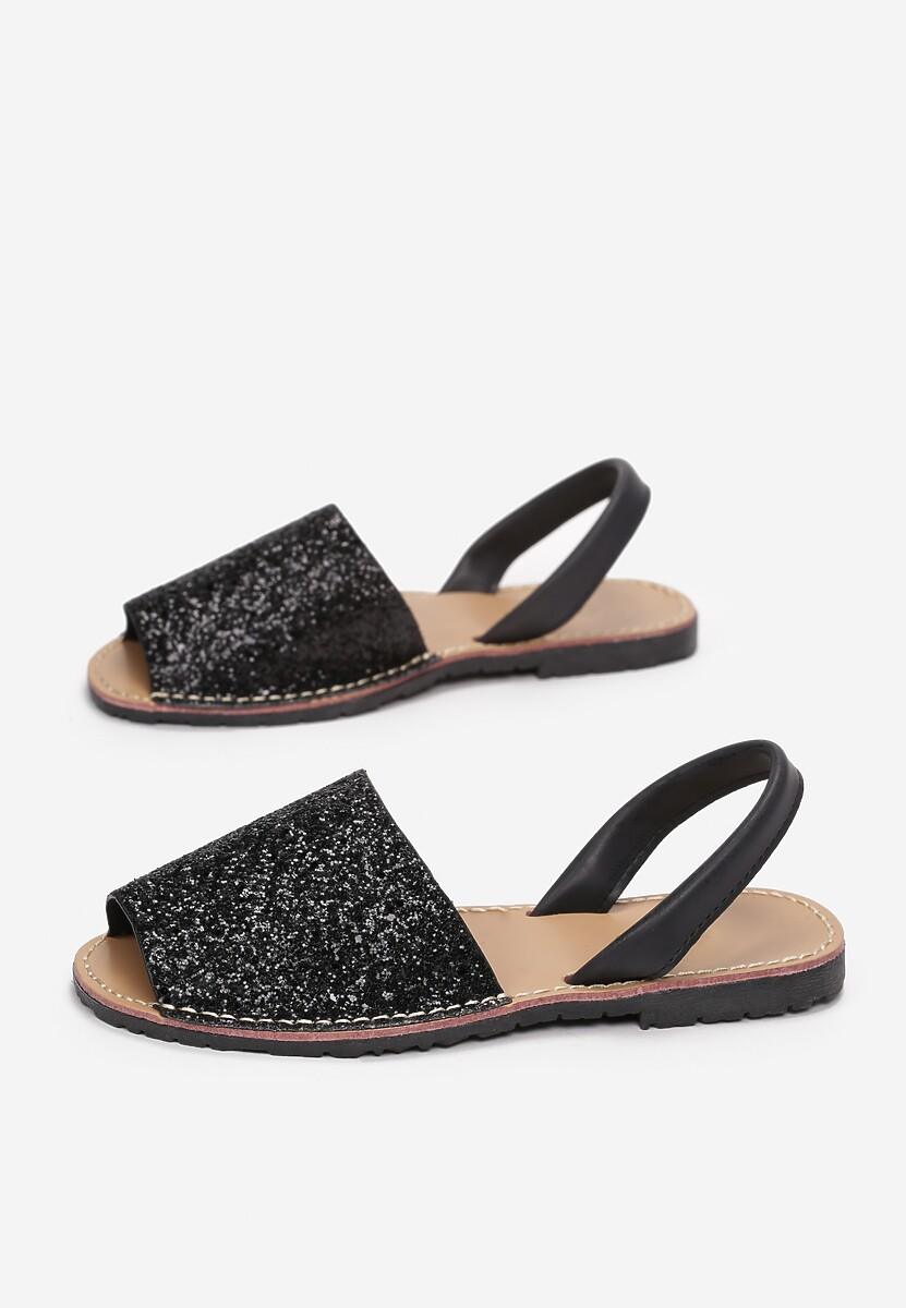 Czarne Sandały Evicine