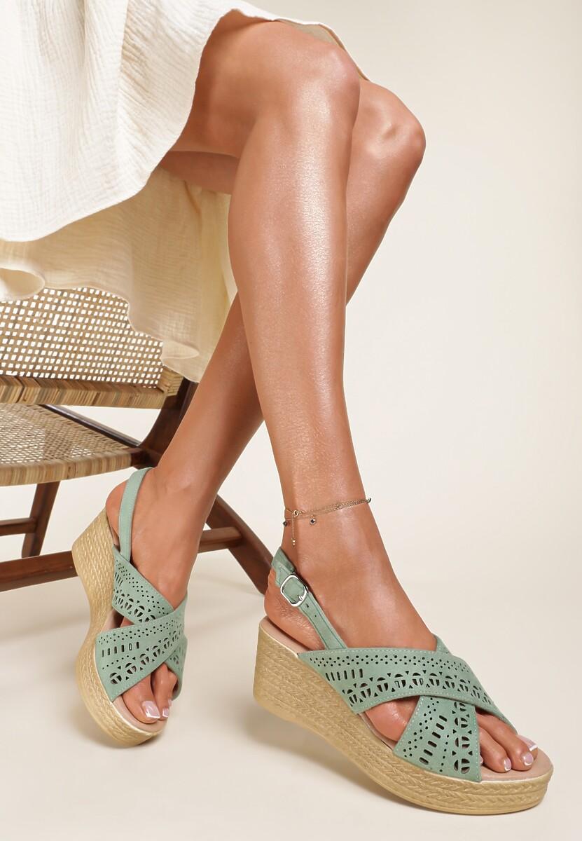Zielone Sandały Theresa