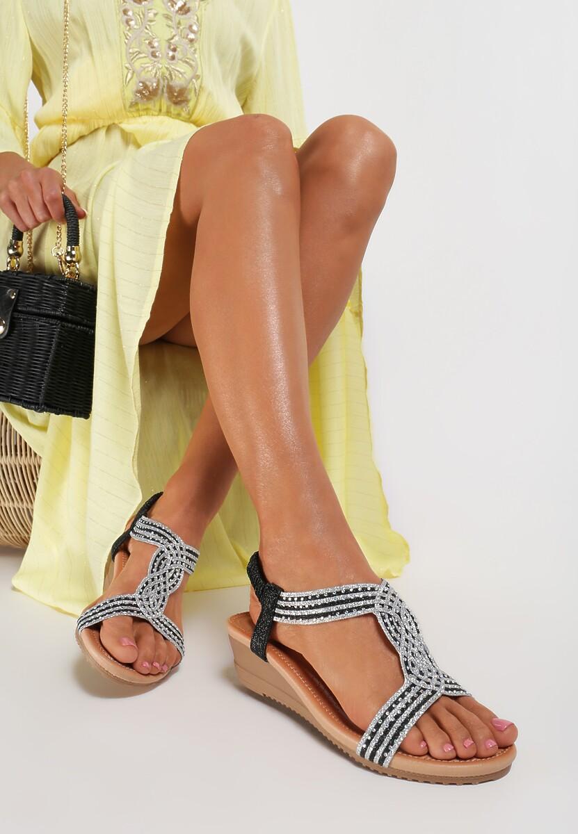 Czarne Sandały Ariva