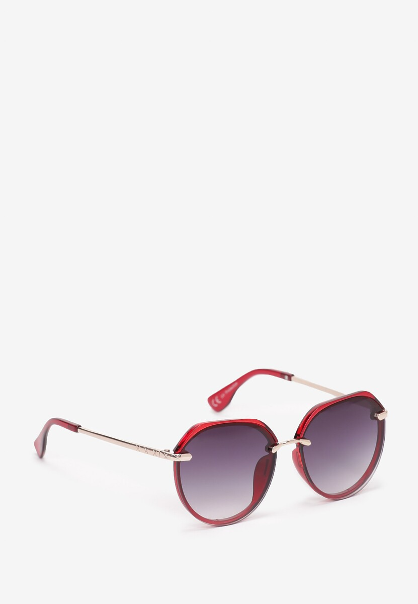 Bordowe Okulary Adraciane