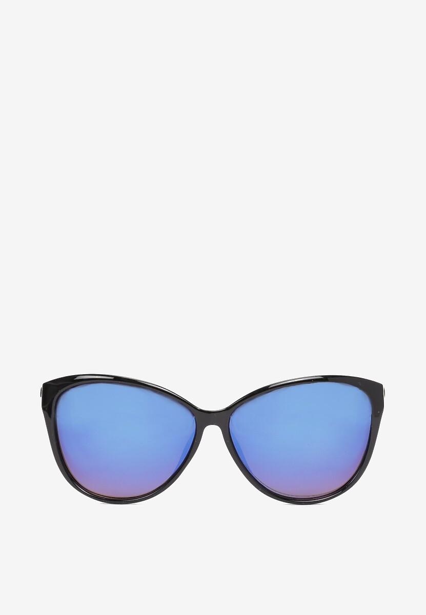Czarno-Niebieskie Okulary Shelin