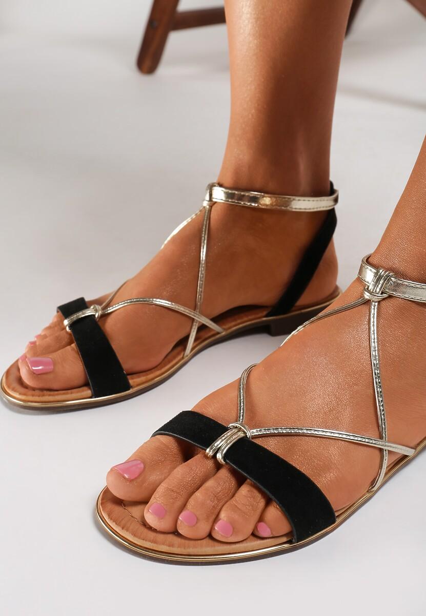 Czarne Sandały Murielle