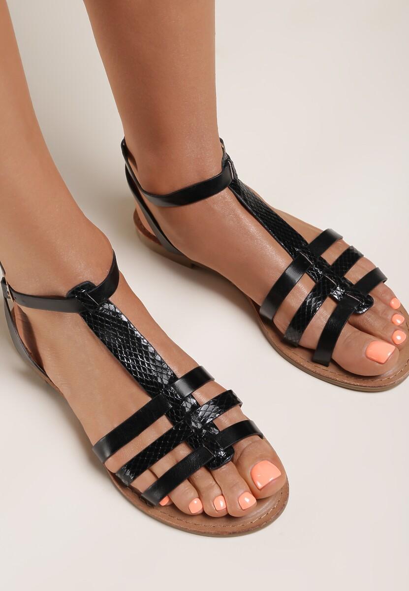 Czarne Sandały Aradella