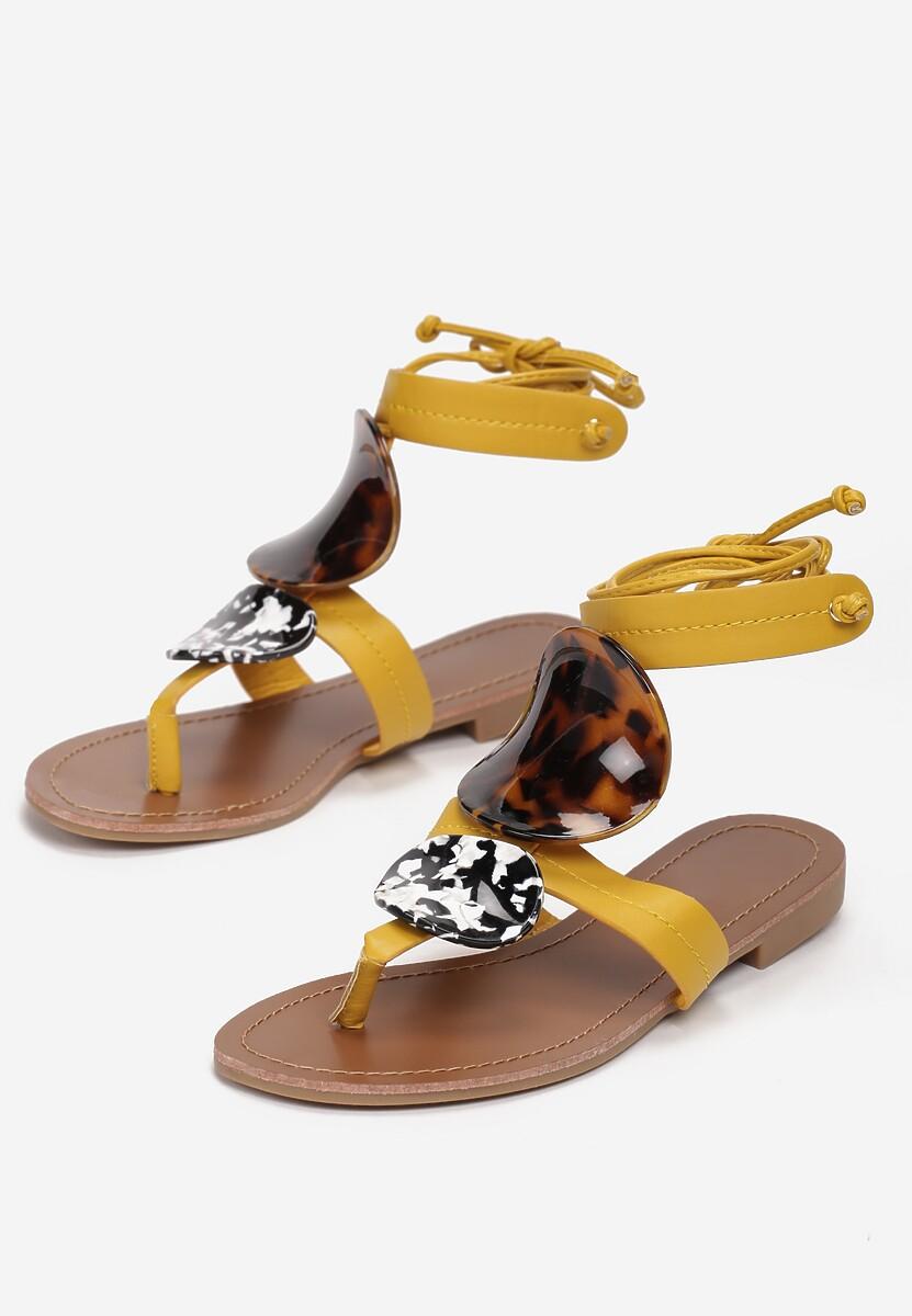 Żółte Sandały Bastianna