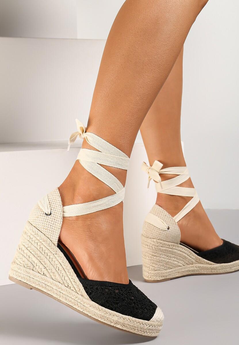 Czarne Sandały Jennileh
