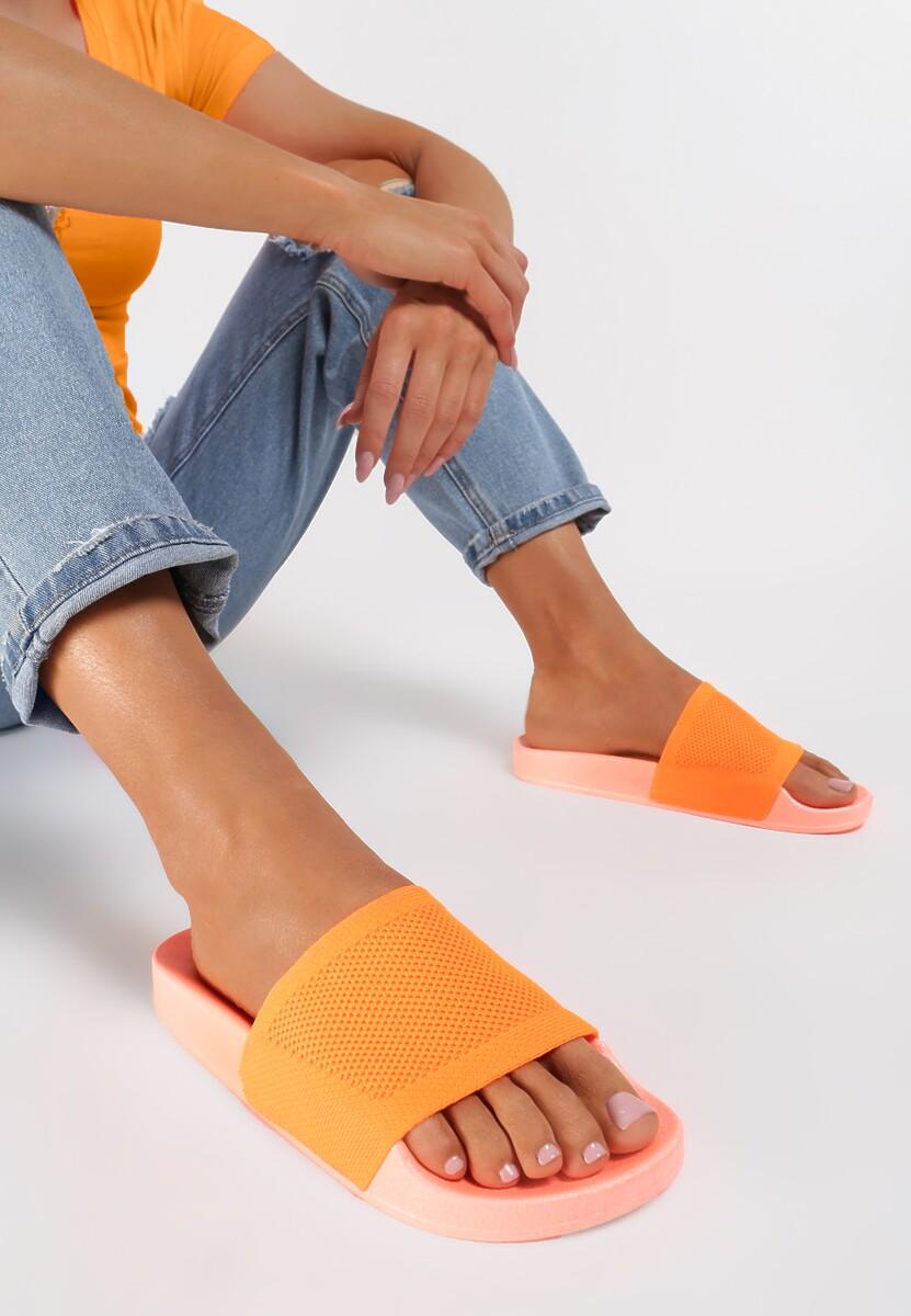 Pomarańczowe Neonowe Klapki Cordenore