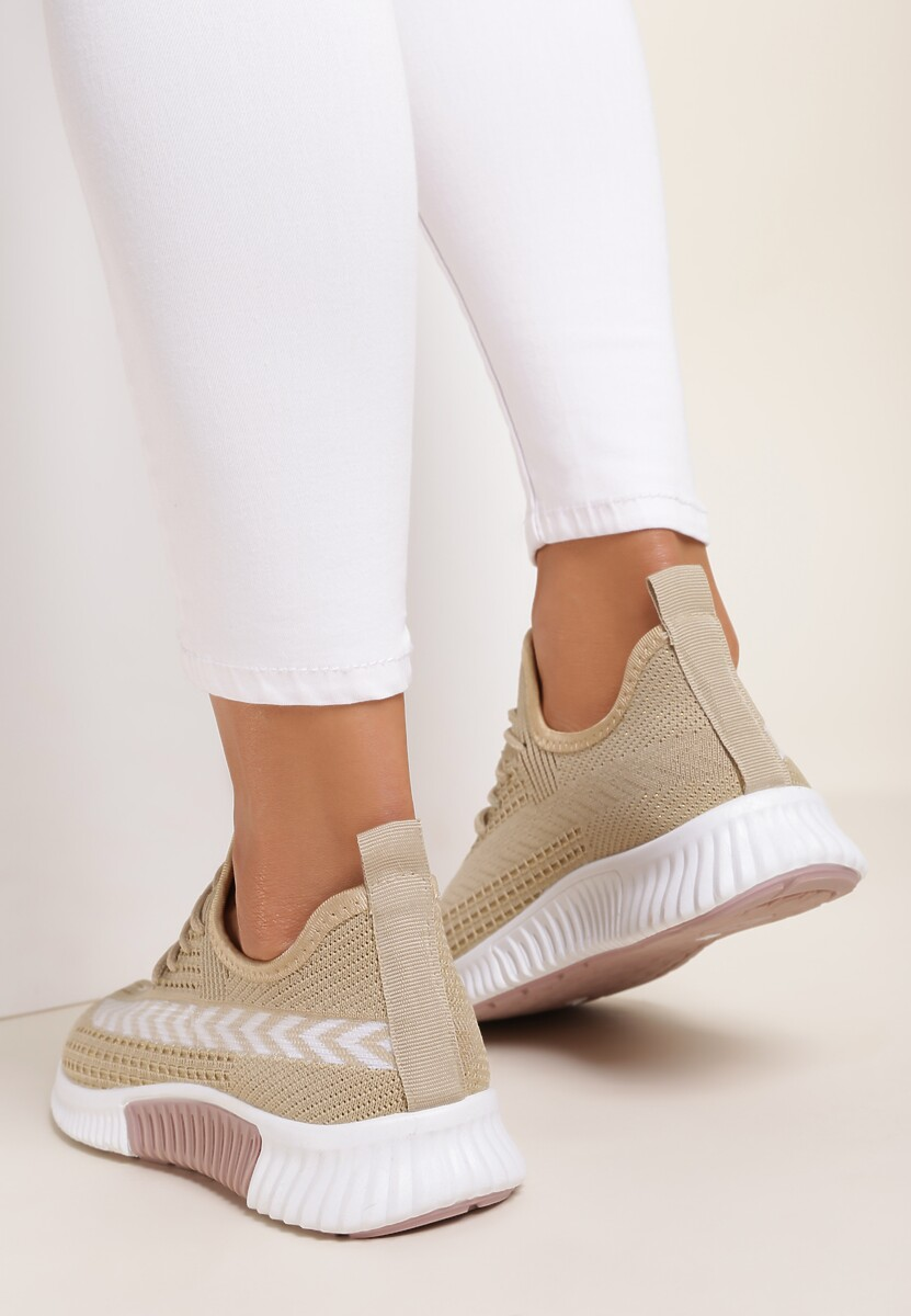 Beżowe Buty Sportowe Idahreia