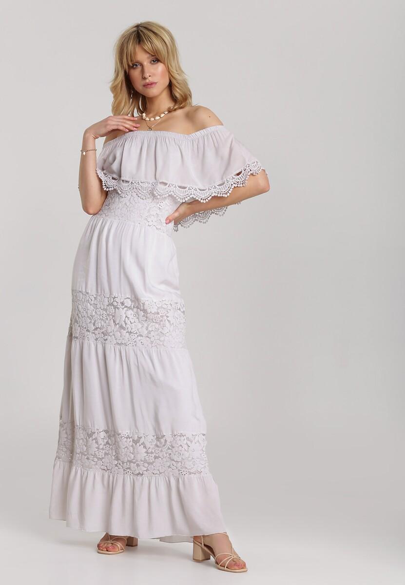 Jasnobeżowa Sukienka Kallimenis
