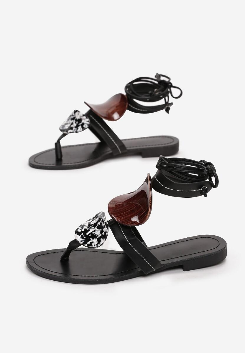 Czarne Sandały Bastianna