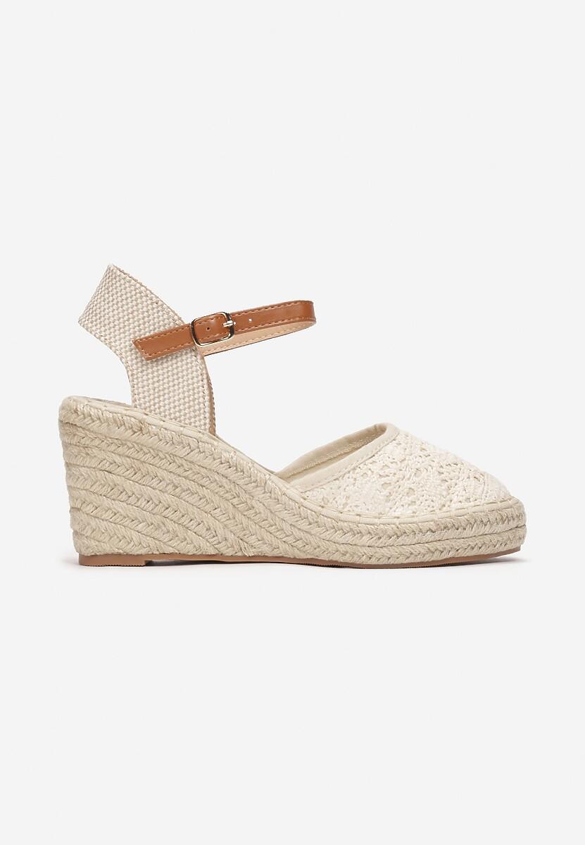 Beżowe Sandały Genily
