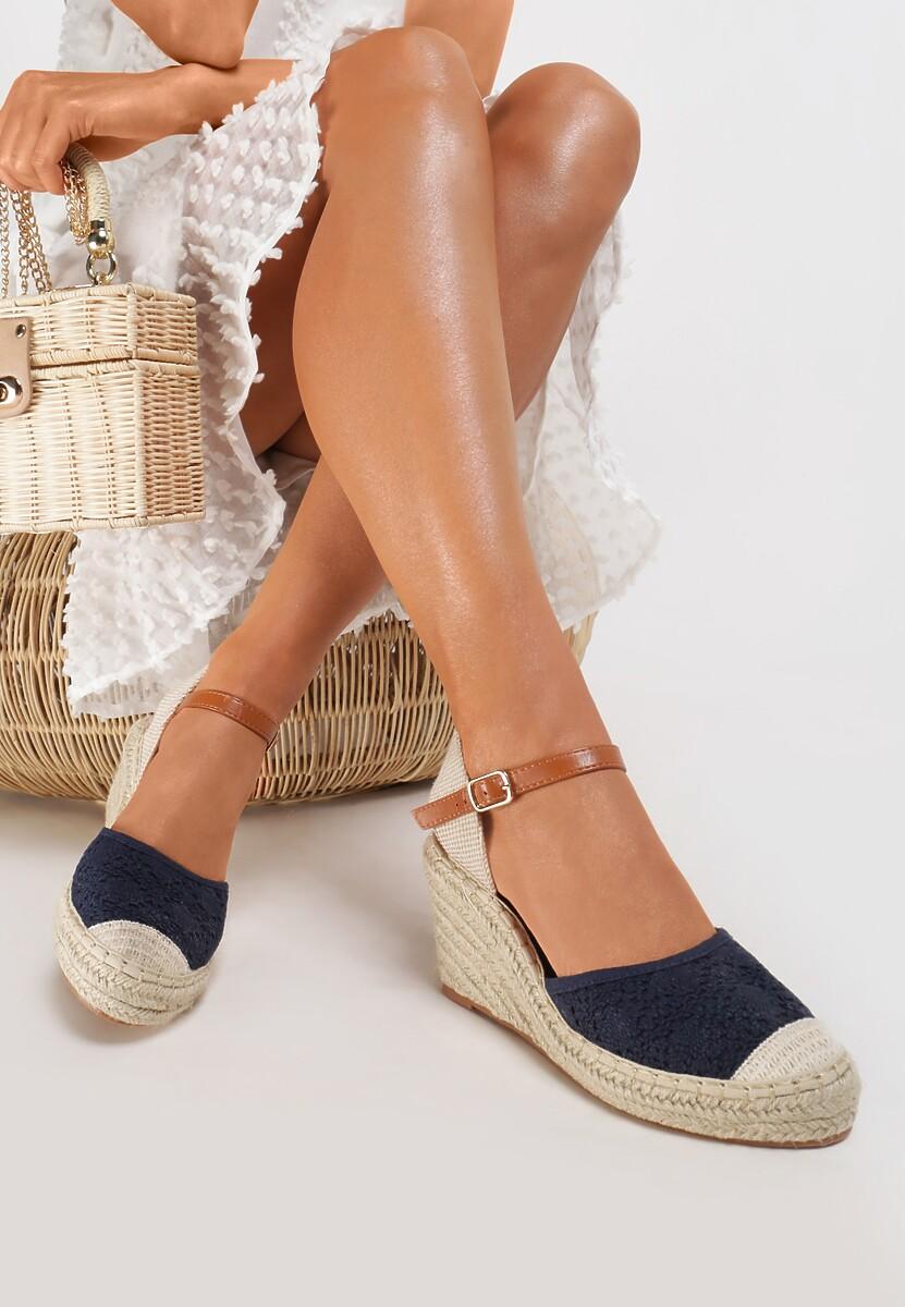 Granatowe Sandały Genily