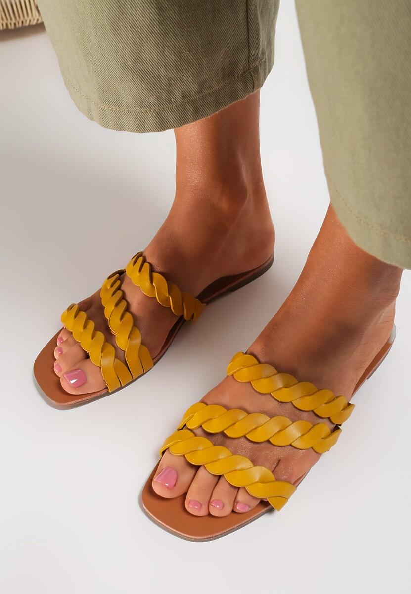 Żółte Klapki Kimoronis