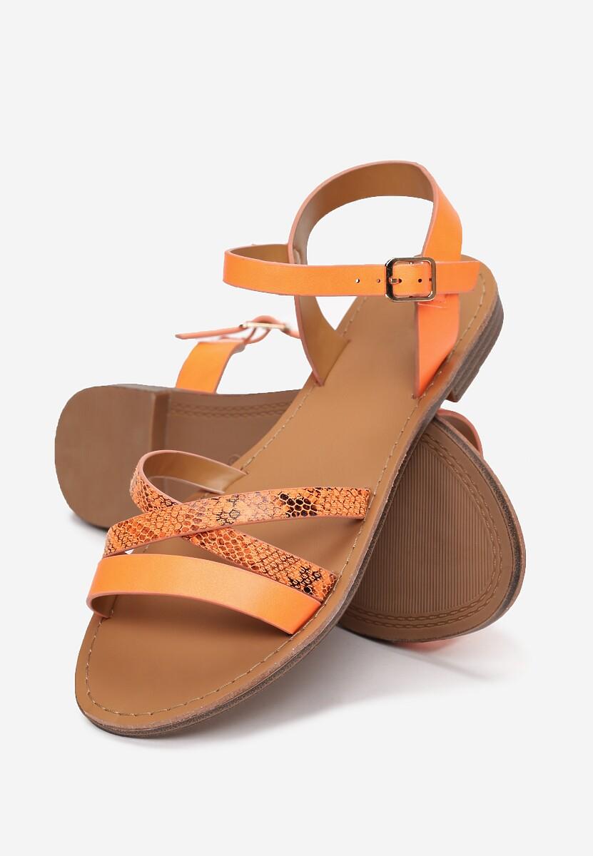 Pomarańczowe Sandały Ilathise