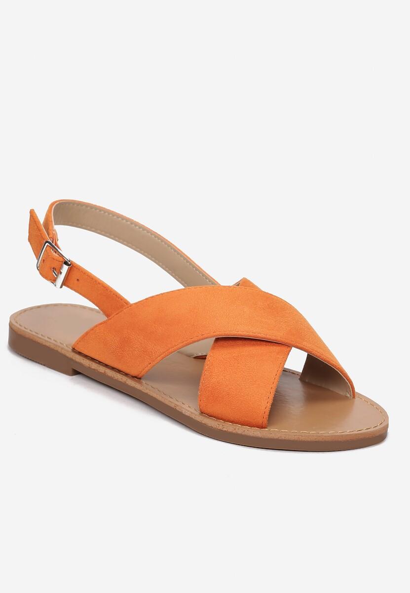 Pomarańczowe Sandały Lope