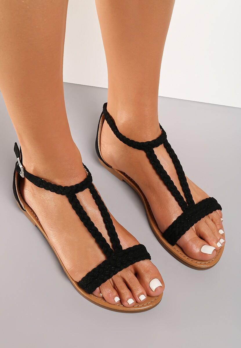 Czarne Sandały Arrieta