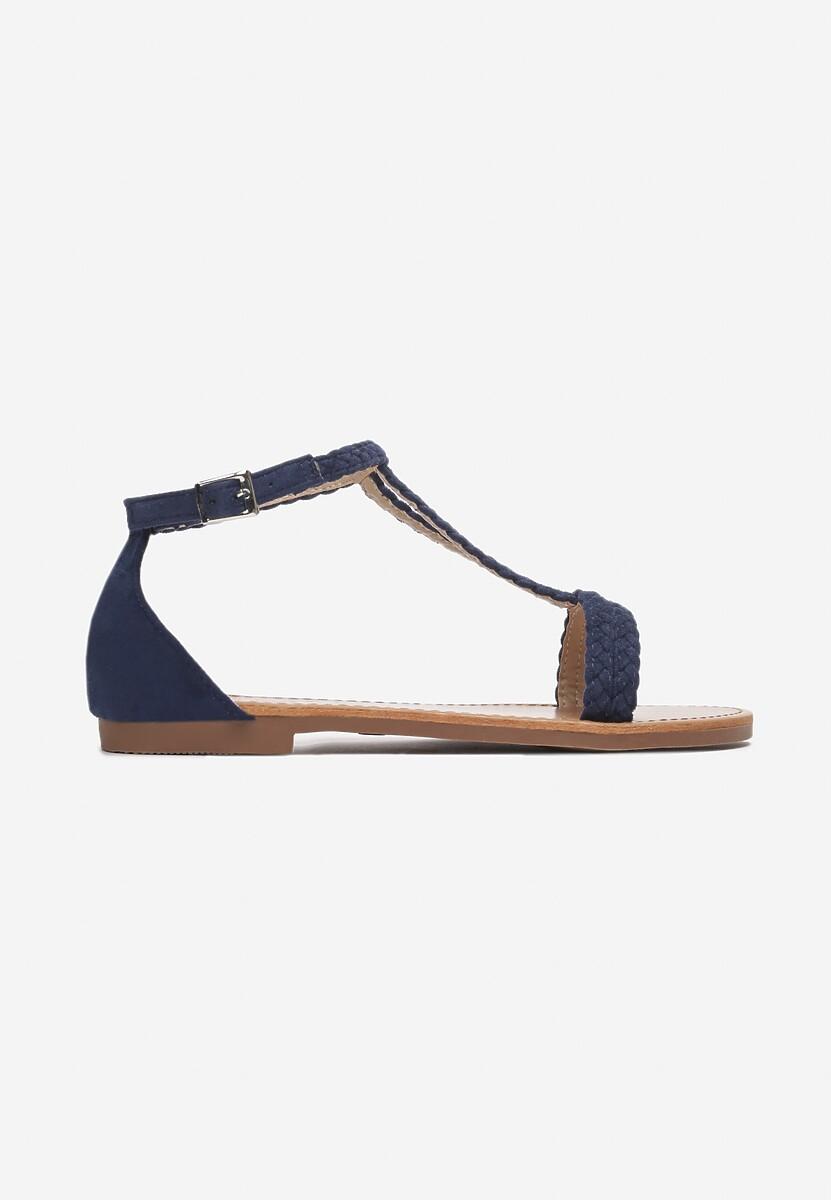 Granatowe Sandały Arrieta