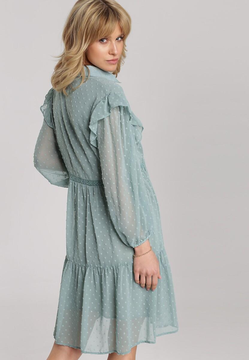 Miętowa Sukienka Anisea