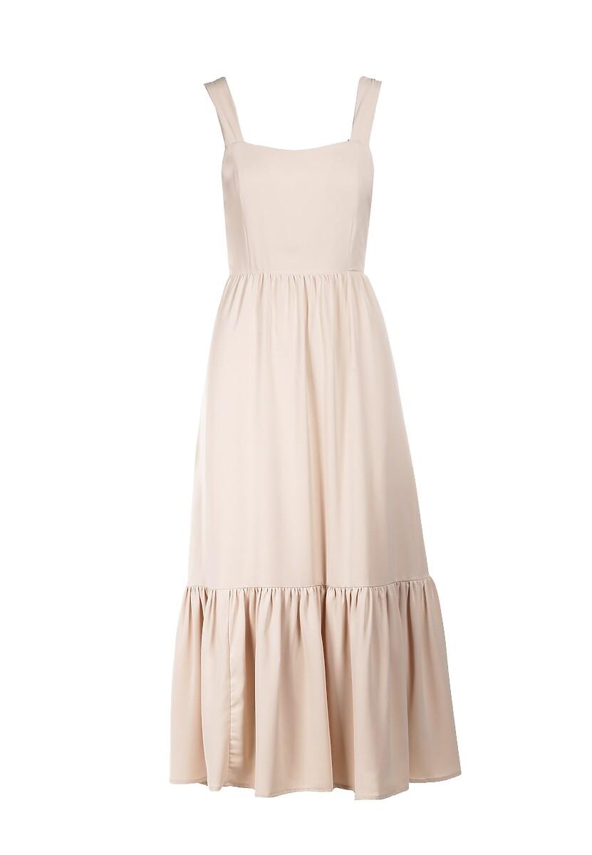 Beżowa Sukienka Dorialila