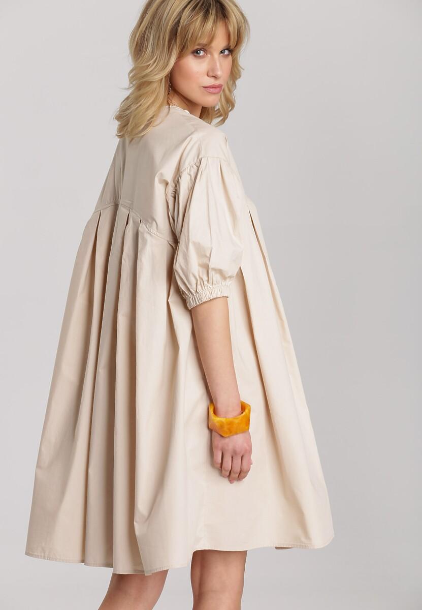 Jasnobeżowa Sukienka Fraya