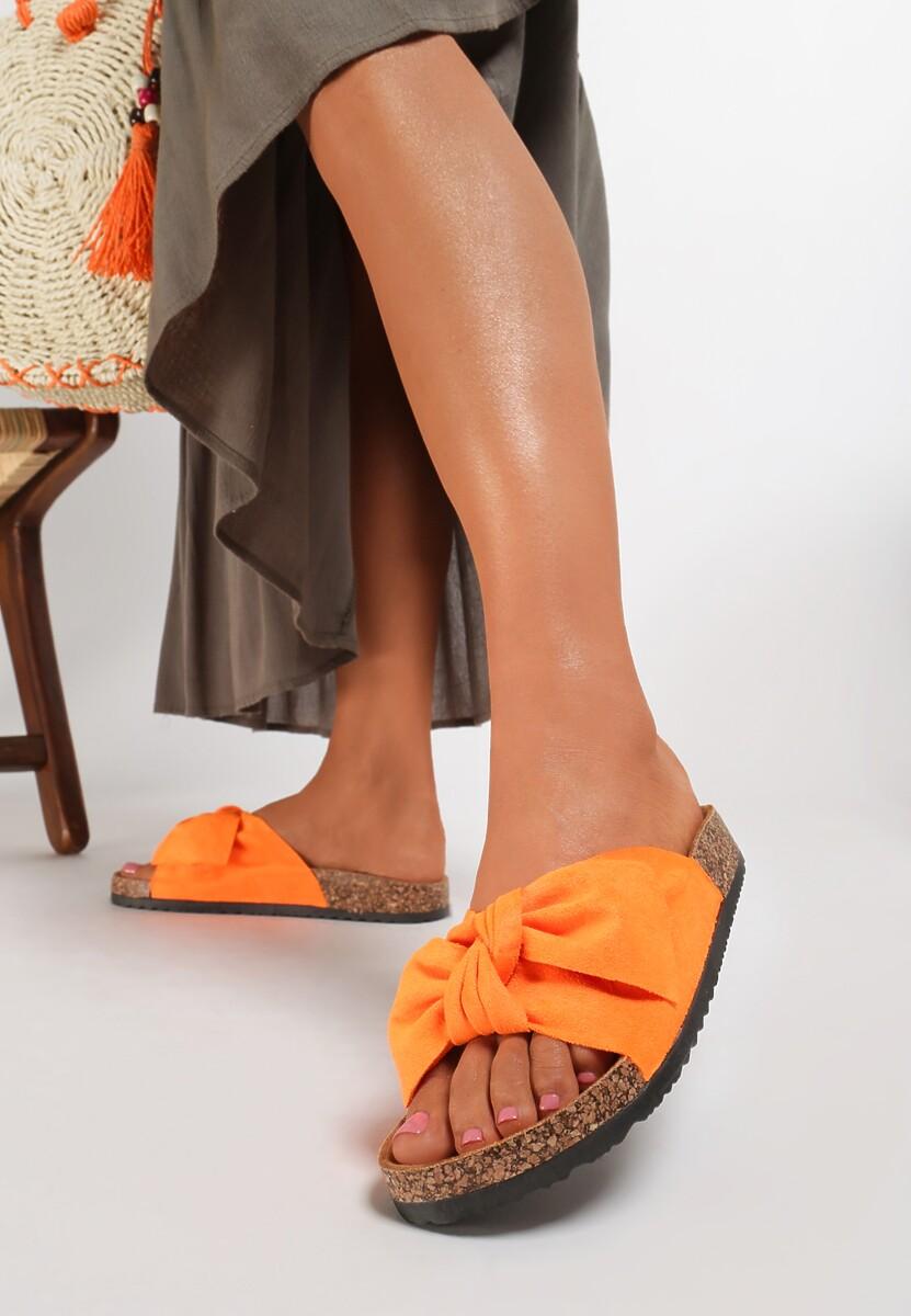 Pomarańczowe Klapki Sylilane
