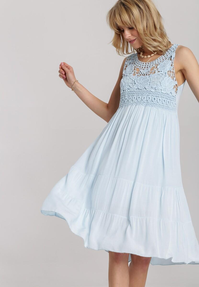 Jasnoniebieska Sukienka Laocine