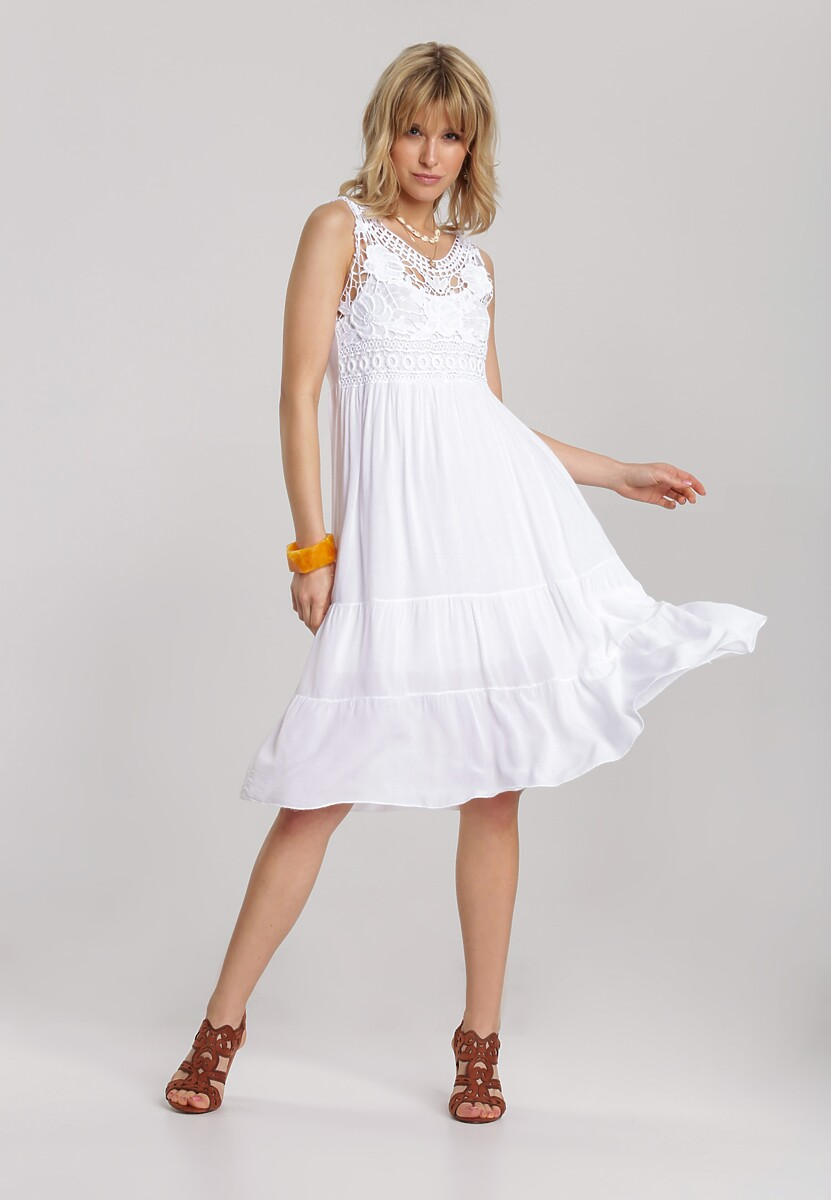 Biała Sukienka Laocine