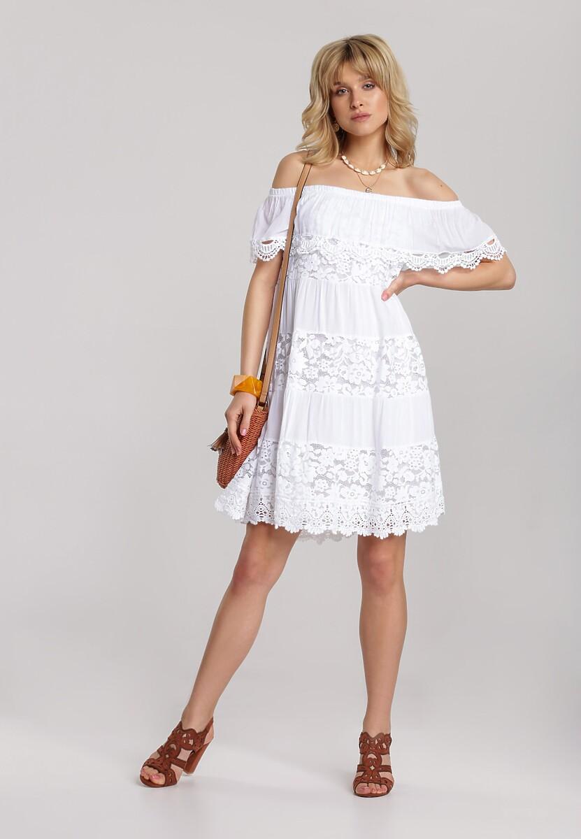 Biała Sukienka Deladina