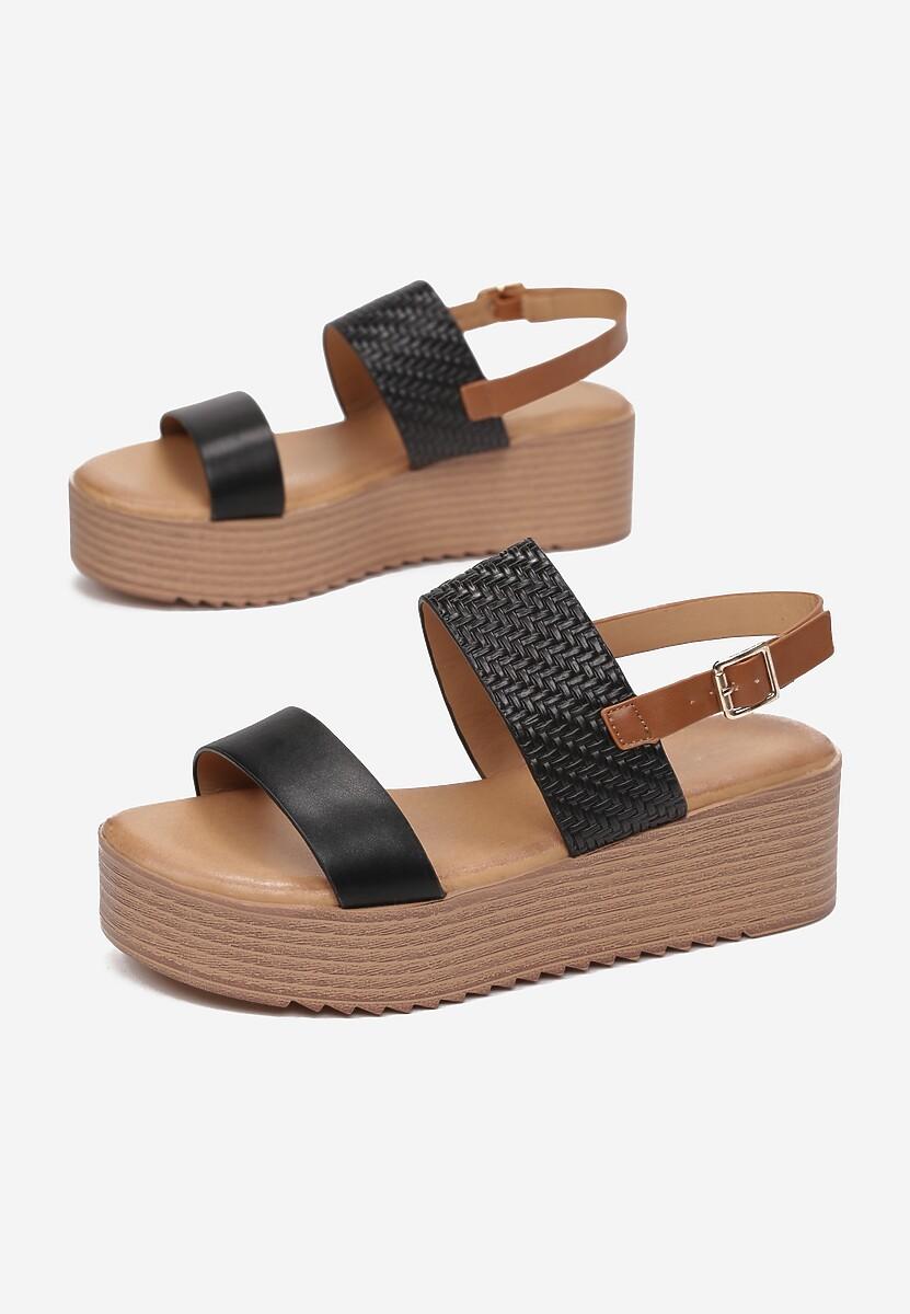 Czarne Sandały Tharial