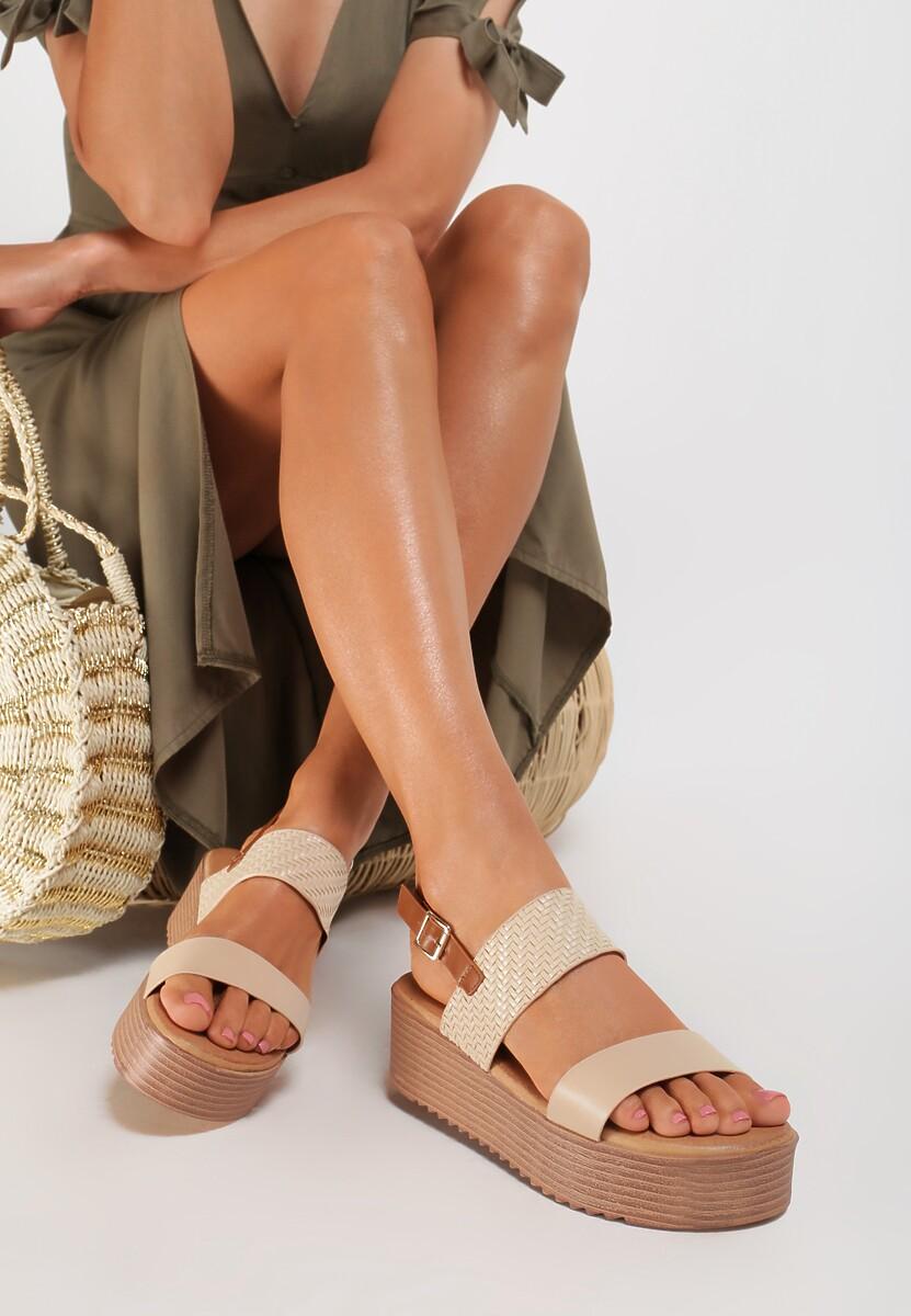 Beżowe Sandały Tharial